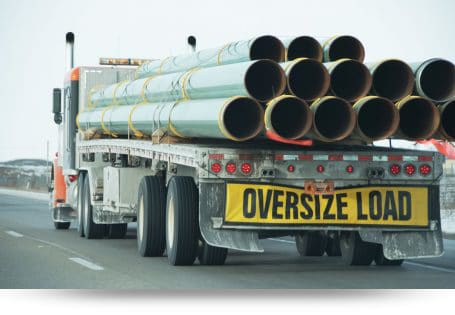 oversize load on trucking
